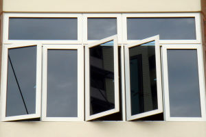 Double Panels Low E Glass PVC Casement Window