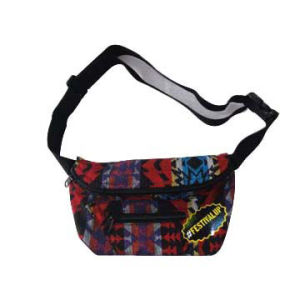 Cotton Waist Bag with Zipper