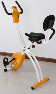 Magnetic Fold Exercise X Bike with Back Rest Cushion