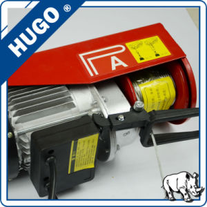 PA800kg Mini Type Electric Wire Rope Hoist Cable Winch with Wireless Remote Control pictures & photos