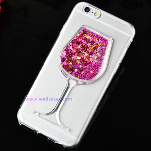 Colorful Quick-Sand Glass Mobile Phone Case with/Without Holder for iPhone 5g/6g pictures & photos