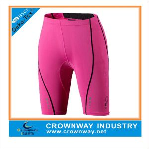 Men′s Pink Polyester/Spandex Shorts with Printed Logo pictures & photos
