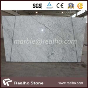 Polished Bianco Carrara White Marble Slab for Sale pictures & photos