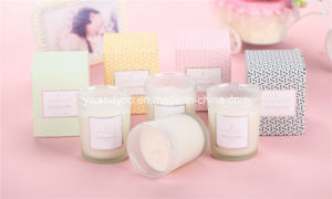 Customized Frosted White Glass Scented Organic Soy Wax Candle pictures & photos
