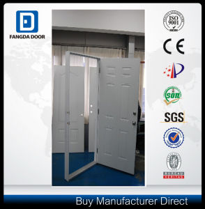 Prehung Steel Door with Galvanized Steel pictures & photos
