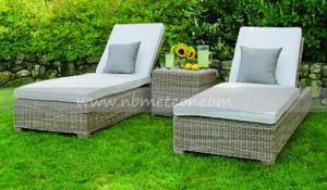 Mtc-165 Wicker Lounge Outdoor Rattan Furniture Patio Garden Chaise Lounge pictures & photos