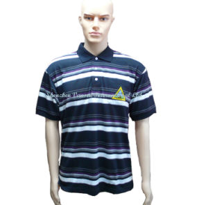 Cheap Dry-Fit Striped Polo Shirt for Man pictures & photos