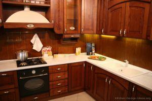 Kitchen Furniture Dark Cherry Kitchen Cabinets (DC16) pictures & photos