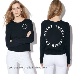Ladies Long Sleeve Tee with Custom Logo pictures & photos