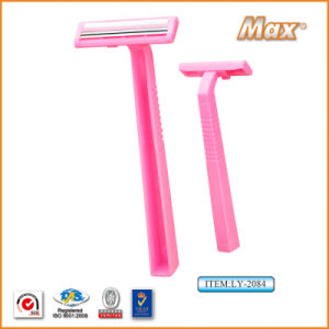 Twin Stainless Steel Blade Disposable Razor Fro Woman (LY-2084) pictures & photos