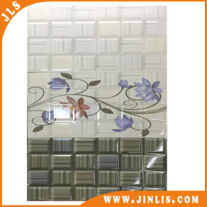Green Background Ceramic Wall Tile with Brick Flower Designs (30600036) pictures & photos