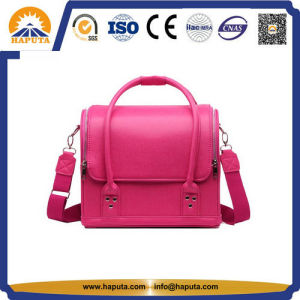 Lady Pink Popular Leather Makeup Cosmetic Hand Bag (HB-6612) pictures & photos