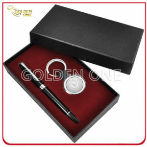 Laser Engraving Logo Metal Key Chain & Pen Gift Set (GS02) pictures & photos