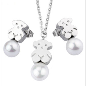 Fashion Stainless Steel Jewelry Bear Necklace Jewelry Set pictures & photos