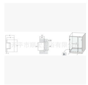 Xc-Gc90t-2 Sanitary Hardware Decorative Construction Glass Spring Clamp pictures & photos
