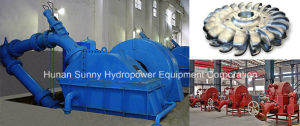 Small Hydro (Water) Pelton Turbine-Generator Low Voltage 400V / Hydropower Turbine-Alternator pictures & photos