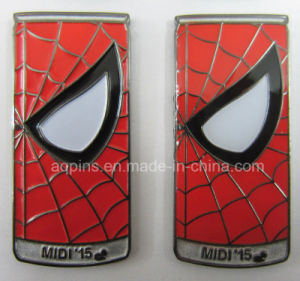Can Shape Metal Soft Enamel Badge for Spider Man (badge-213) pictures & photos