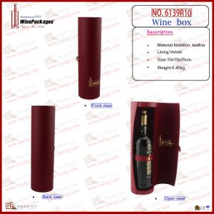 Luxurious Leather Wine Bottle Holder From Dongguan pictures & photos