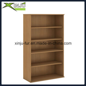 Simple 5 Tier Wooden Bookcase Wide