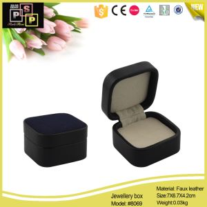 Black Luxury Leather Small Jewelry Box (8069) pictures & photos