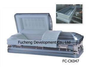 18ga Blue Steel Casket for Funeral (FC-CK047) pictures & photos