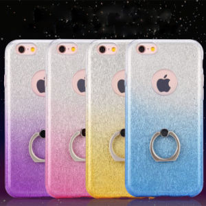 TPU with Ring Flash Powder Gradient Mickey iPhone 6 7 7plus Case (XSDD-034) pictures & photos