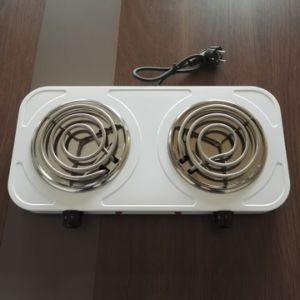 Coil Hot Plate Stainless Steel 2 Burner Electric Stove Cooking Hot Plate Electric Hot Plate for Sale pictures & photos