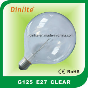 G125- Clear Frost White and Golden Incandescent Bulb pictures & photos
