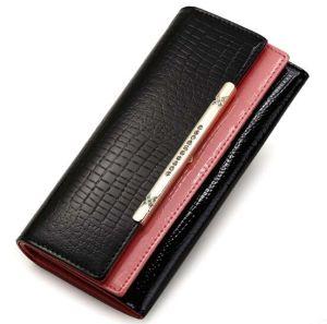 Classics Crocodile Women Genuine Leather Wallet Bag Ladies Purse (XQ0681) pictures & photos
