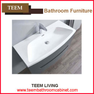 Yes Include Mirror and Modern Style Popular Design Tempered Glass Basin Bathroom Vanity pictures & photos