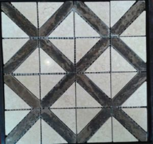 Beveled Natural Stone Marble Mosaic Tile for Decoration (FYSC337)