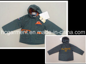 Kids Coated Fashion Jacket with Hood Boy Outdoor Clothes pictures & photos