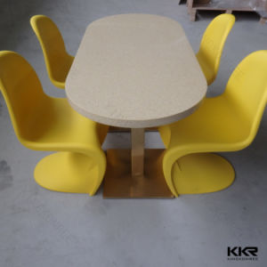 China Wholesale Artificial Stone Solid Surface Dining Table pictures & photos