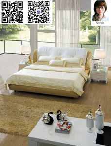 Modern Leather Folding Sofa Bed/Leather Bed (ms-07170)