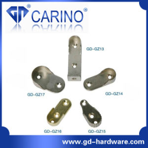 Closet Wardrobe Tube Rail Circular Flange Hanger; Iron or Zinc Alloy Tube Base Plate *Iron Holder pictures & photos
