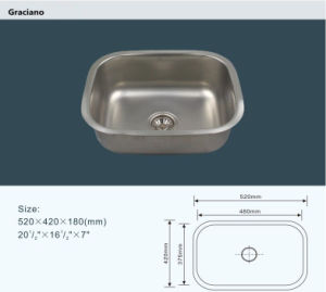 New Arrival Single Bowl Stainless Steel Kitchen Sink