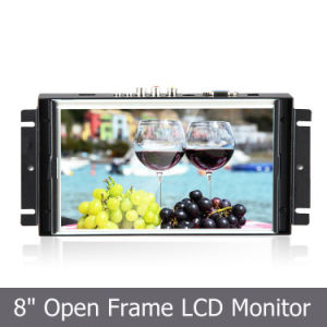 Metal Open Frame Industrial TFT Panel with 8′′ LCD Touch Monitor pictures & photos
