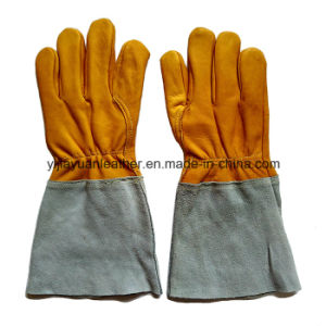Wholesale Cowhide TIG Welding Gloves pictures & photos