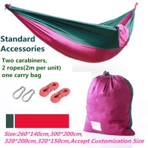 Carries Double Camping Hammock Portable Parachute Nylon Hammock pictures & photos