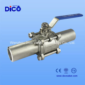 Butt Weld End Ss3PC Ball Valve with Extended Pipe pictures & photos