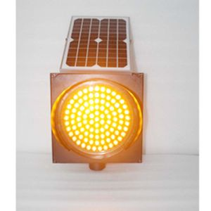300mm LED Lens Yellow Flashing Traffic Solar Warning Light pictures & photos