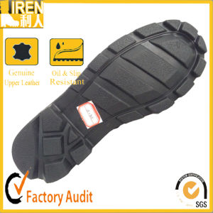 2017 China New Design Black Genuine Cow Leather Military Tactical Boot Military Jungle Boot pictures & photos