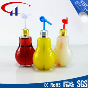 High Quality Bulb Shaped Glass Bottle with Screw Cap (CHW8169) pictures & photos