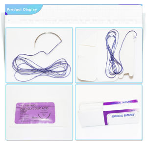 CE Medical Disposable Absorbable Polyglycolic Acid Suture pictures & photos