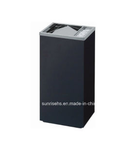 Square Shape Stainless Steel Standing Ashtray Bin pictures & photos