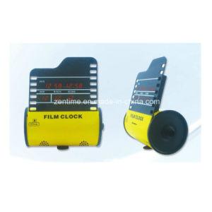 Electric Film Roll Shape Desktop LED Digital Calendar Clock/Gift Clock pictures & photos