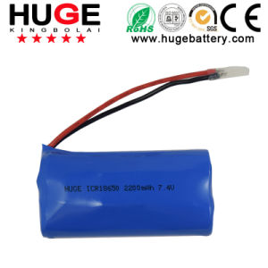 High Quality Lithium Battery 7.4V 2200mAh Icr18650 pictures & photos