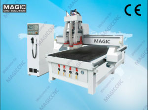 High Efficient Tripartite Head Woodworking CNC Engraver