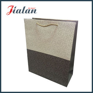Matte Lamination Custom PP Handle Logo Printed Classical Paper Bag pictures & photos