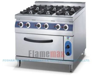 Hgr-76g 6-Burner Gas Range with Gas Oven pictures & photos